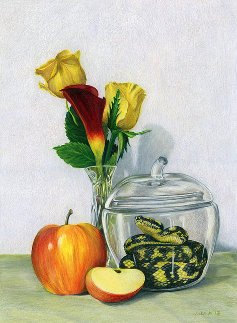 Still Life with Apple Jar